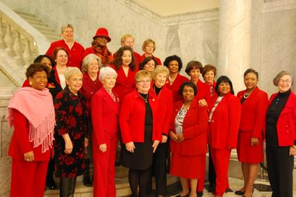 Senator King and the Maryland Women's Caucus gather to promote heart disease awareness
