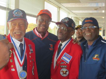 Senator McFadden with members of the Tuskegee Airmen