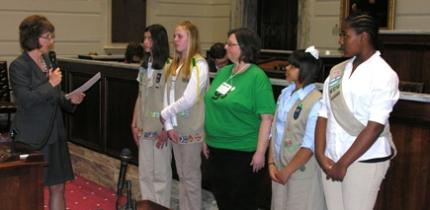 Sen. Paddack recognizes Girl Scouts in Senate